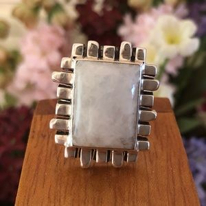 RARE R0939 Silpada Sterling Silver Moonstone Ring